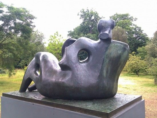 """Henry Moore """"Hill Arches"""", 1973, bronze:"""