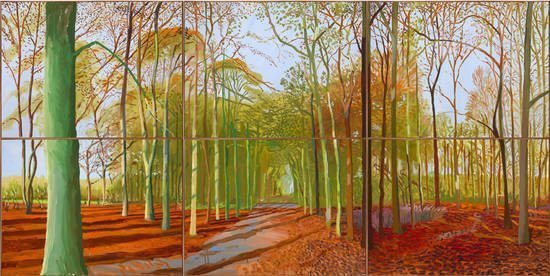 David Hockney, 'Woldgate Woods, 21, 23 & 29 November 2006', 2006.