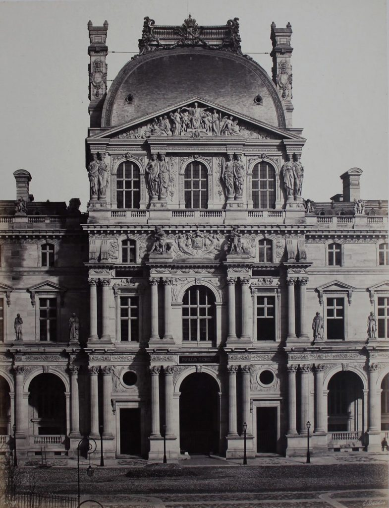 Edouard Baldus Pavillon Richelieu, Nouveau Louvre, Paris c. 1855 Salt print mounted on card45 x 34.5 cms