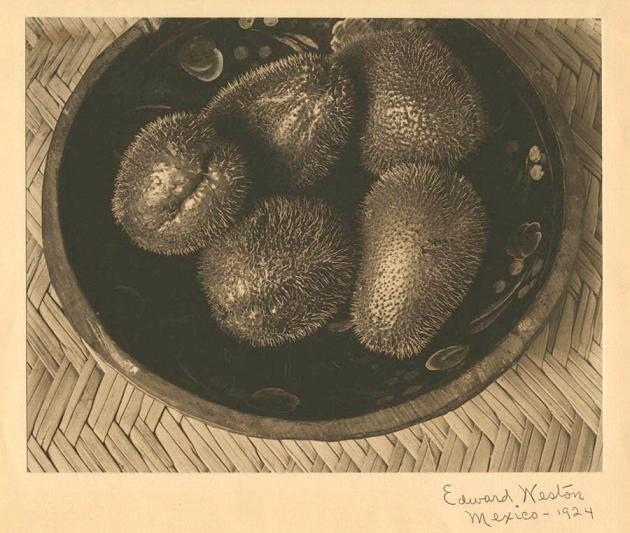Edward Weston  Chayotes in a Painted Wooden Bowl  1924  Vintage platinum palladium print  19.2 x 24.3 cms