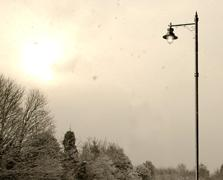 A picture of light and snow