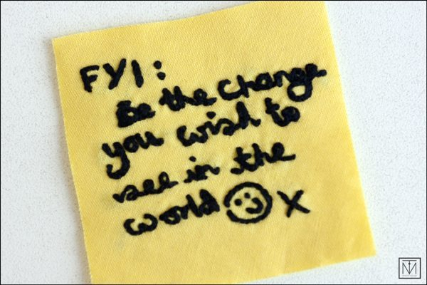 Craftivist post-it note 2