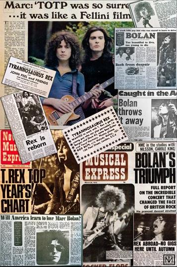 A montage of Marc Bolan