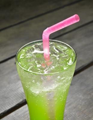 A picture of a green drink