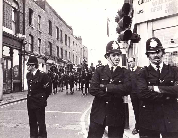 A picture of UK Bobbies by Andy Wilson