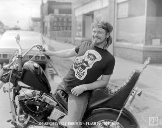 A picture of a biker by Jim Miteff