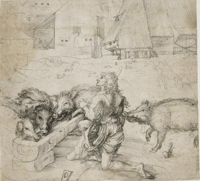 A drawing of the Prodigal SOn by Albrecht Durer