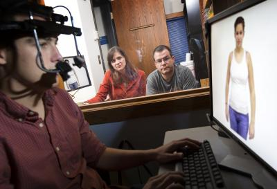 A picture of eye-tracking Photo by Craig Chandler / University Communications, University of Nebraska-Lincoln