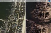 A picture of Hurrican Sandy Damage by Google and NOAA
