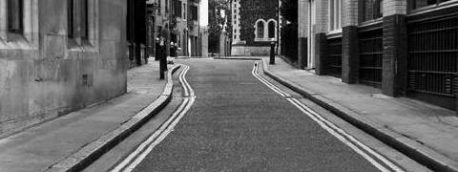 A picture of an empty London street by Carl Byron Batson