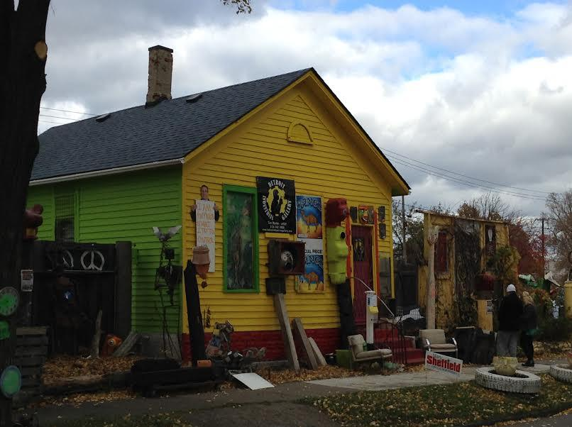 A picture of the Heidelberg Project, Detroit