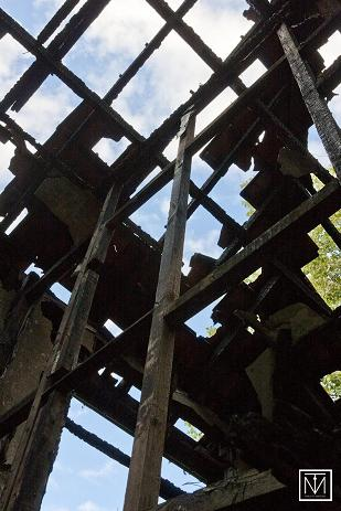 A picture of some burnt ruins by Carl Byron Batson