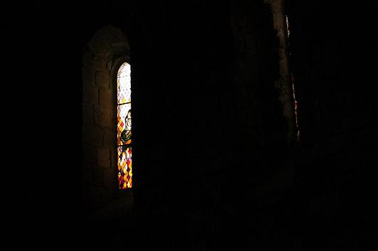 A picture of a stained glass window