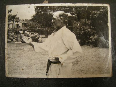 A picture of a white african karate instructor