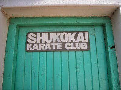A picture of a karate club in Harare