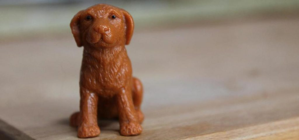 A picture of a plastic dog