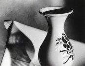 Vase and Table by Malcolm Leyland