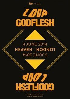 A poster for Loop and Godflesh gig