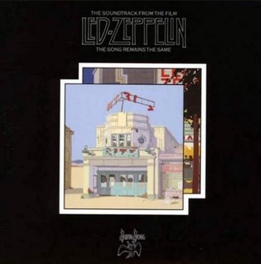 A picture of a led zeppelin album cover