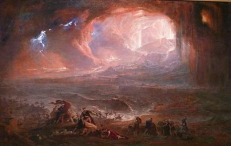 John Martin's painting 'The Destruction of Pompeii and Herculaneum', 1822