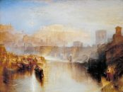 JMW Turner Ancient Rome; Agrippina Landing with the Ashes of Germanicus exhibited 1839 Oil paint on canvas support: 914 x 1219 mm frame: 1230 x 1530 x 140 mm painting Tate. Accepted by the nation as part of the Turner Bequest 1856