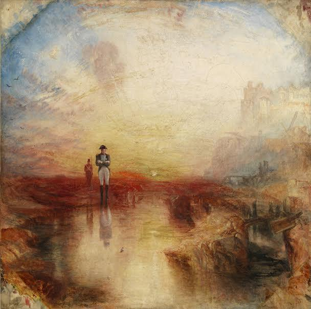 War: The Exile and the Rock Limpet exhibited 1842  Oil paint on canvas support: 794 x 794 mm frame: 1030 x 1025 x 125 mm painting Tate. Accepted by the nation as part of the Turner Bequest 1856