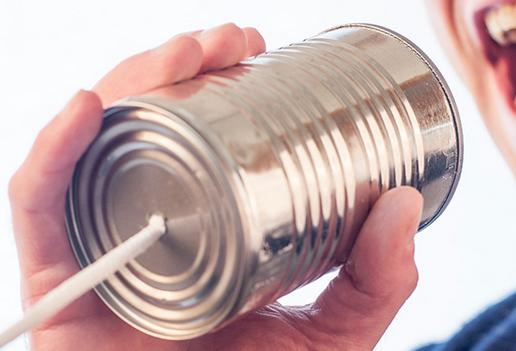 A picture of a can phone by ryan McGuire