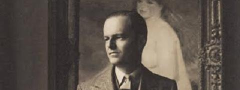 Kenneth Clark in front of Renoir's La Baigneuse Blonde (pl.1), c.1933 Private collection