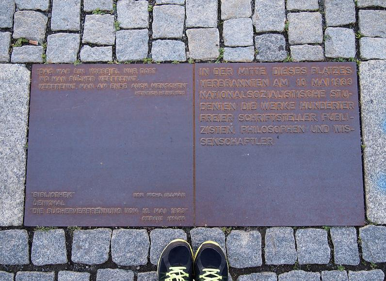 bebelplatz memorial plaque by Debbie Ding