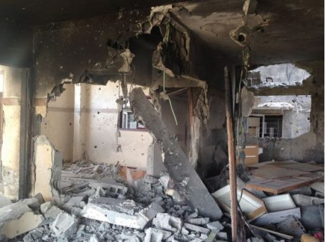 Remains of the Al Masrani's apartment, Gaza