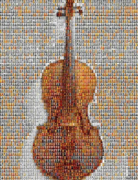 violin mosaic by Dan Chitwood