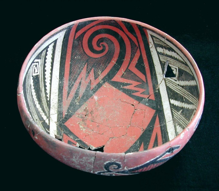 polychrome bowl by Barbara Mills and University of Arizona