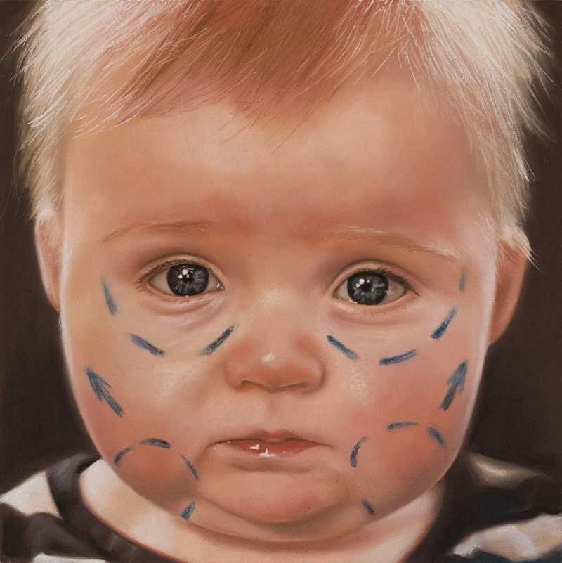 Oliver+Jones,+Designer+Baby,+2014,+colored+chalk+pastel+on+paper,+18.5+x+18.5+in