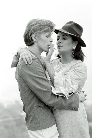 Bowie and Taylor, copyright Terry O'Neill