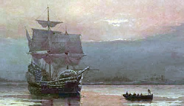 The Mayflower in Harbour by William Halsall