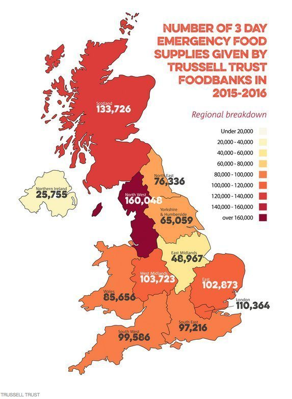 Food Banks UK 2015-2016 by Trussell Trust