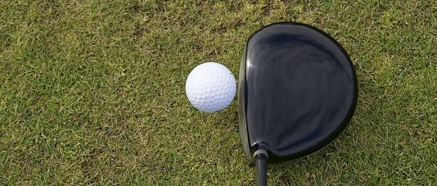 golfball and club