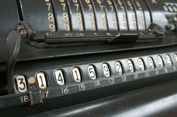 vintage calculator, maths in progressive societies
