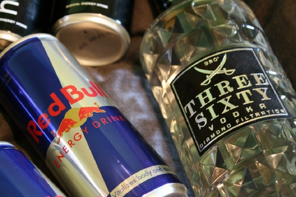 red bull and vodka, energy drinks