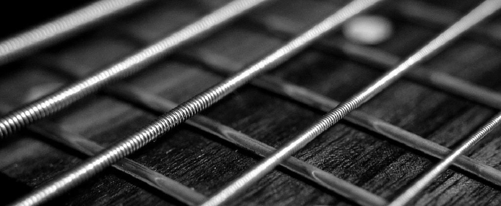 Guitar strings, railway lines