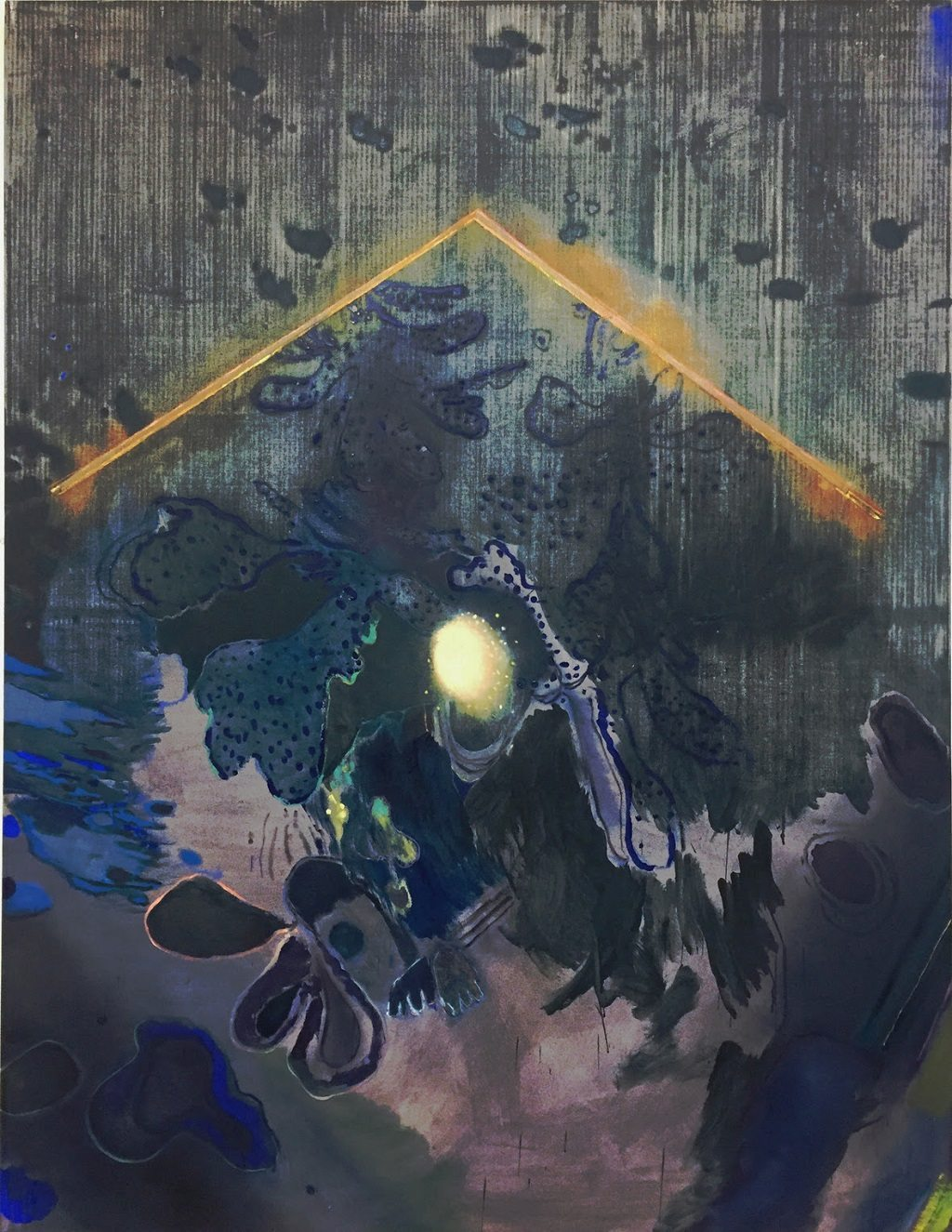 'This Earthen Tent' (2017), oil and synthetic polymer on canvas, 190X145CM