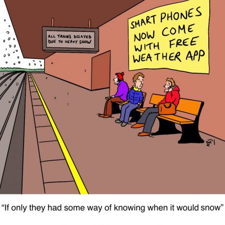 Snowed: Satirical Saturday Cartoon on Art by Alex Brenchley 2019