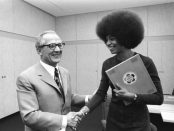 Angela Davis and Erich Honecker