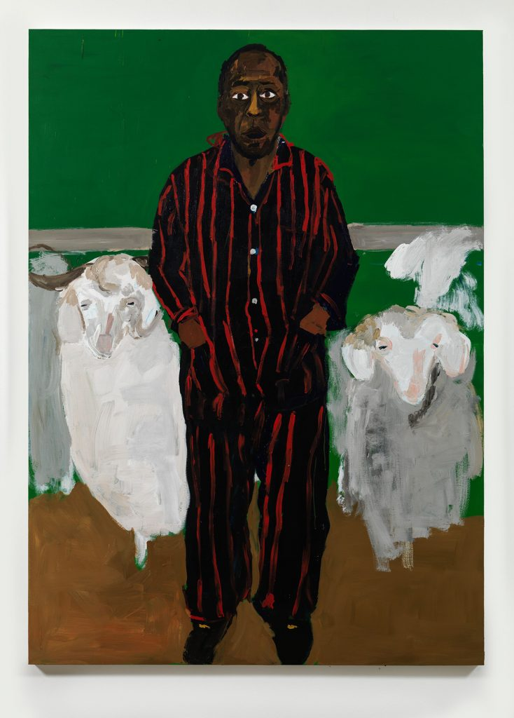 portrait of a man with sheep