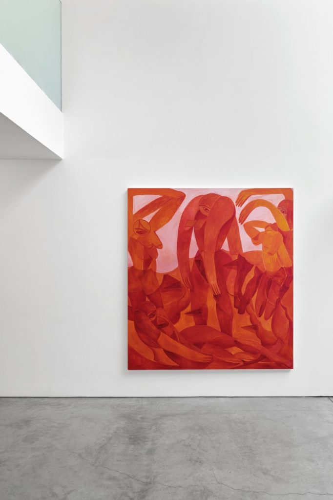 figures painted in red