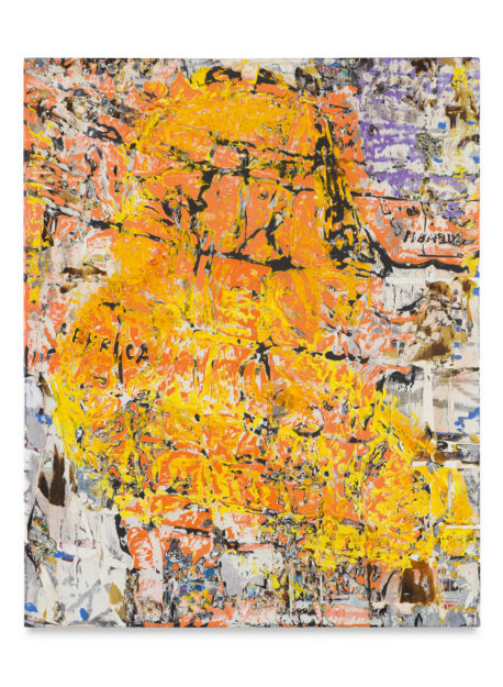 abstract orange and yellow painting