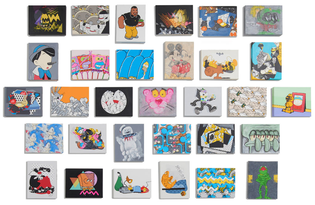 collage of small paintings