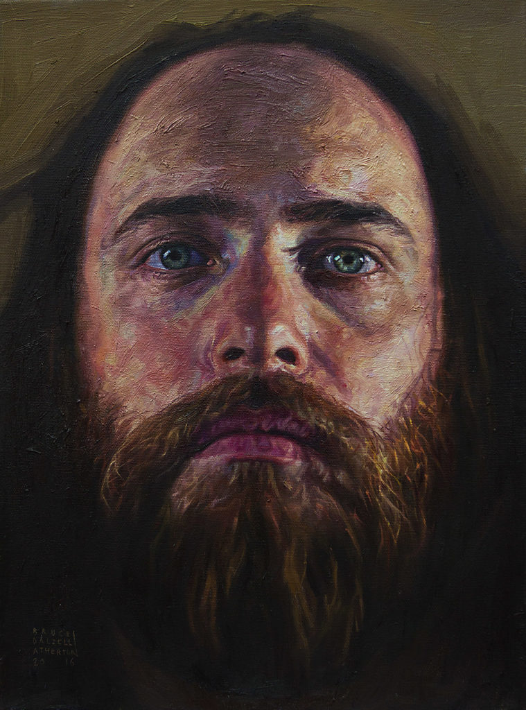 Nathan Mann by Bruce Atherton 2016, 30x40 cm, Oil on Canvas_2