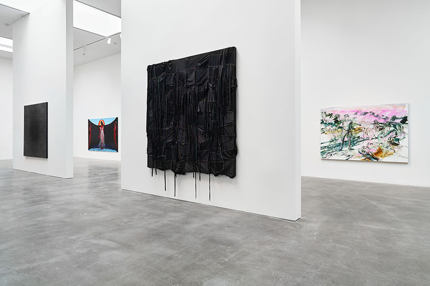 installation view of mixed media exhibition